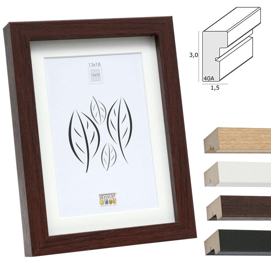 deknudt holzrahmen lontzen mit passepartout 50x70 cm schwarz. Black Bedroom Furniture Sets. Home Design Ideas