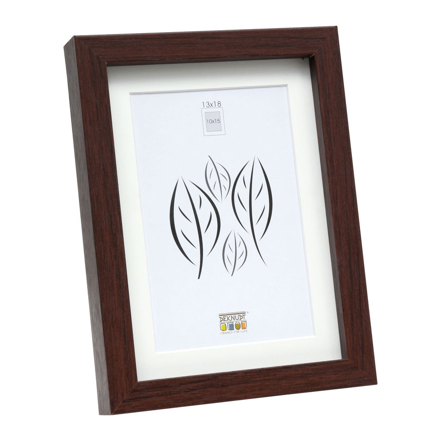 deknudt holzrahmen lontzen mit passepartout 50x70 cm braun. Black Bedroom Furniture Sets. Home Design Ideas