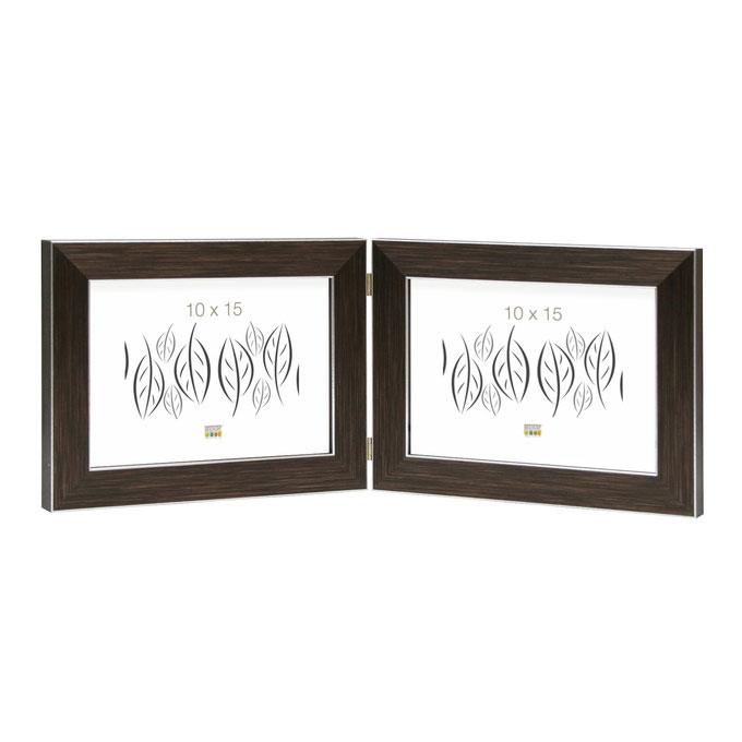 Doppel-Fotorahmen Vorselaar, horizontal Braun