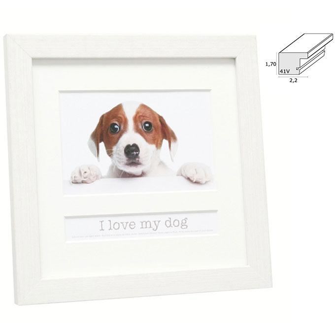 Fotorahmen mit Textfach I love my dog