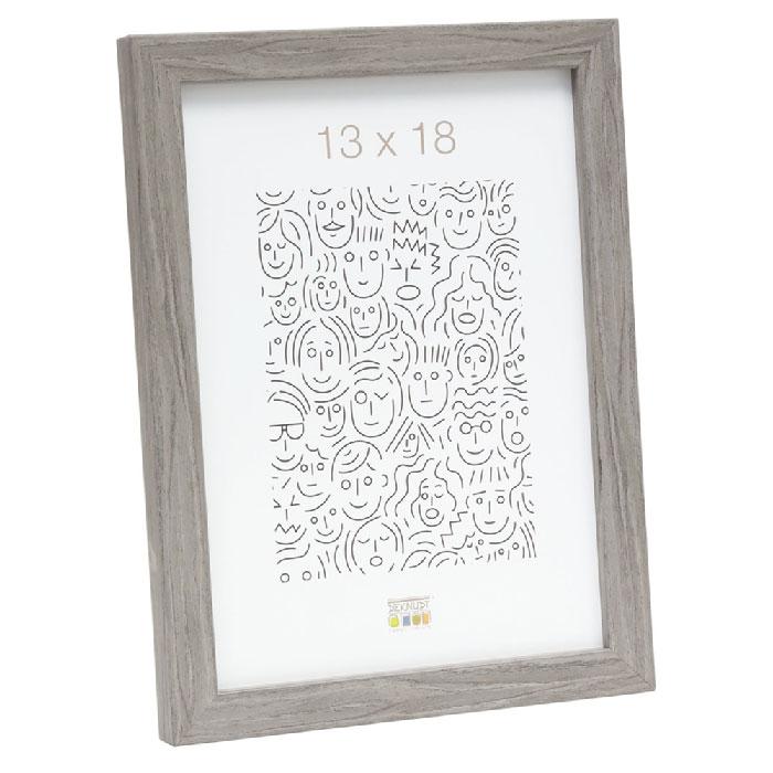 Schmaler Bilderrahmen aus Holz grau