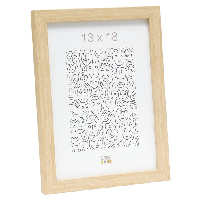 Schmaler Bilderrahmen aus Holz natur