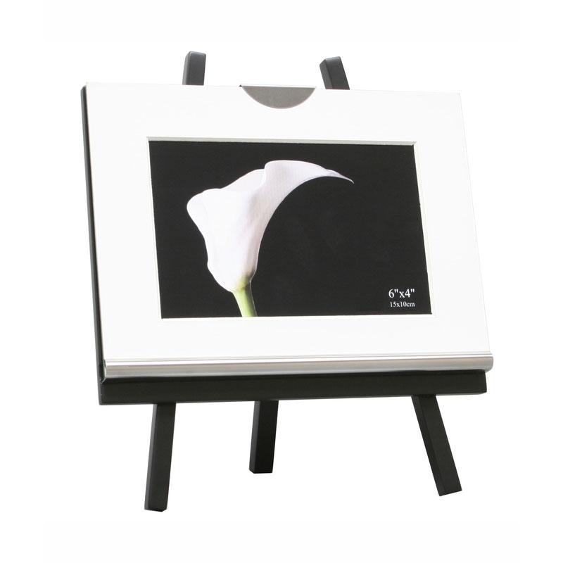 Deknudt Bilderrahmen mit Staffelei 10x15 cm - schwarz | AllesRahmen.de