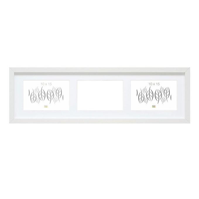 3er Galerierahmen Habay, horizontal Weiß