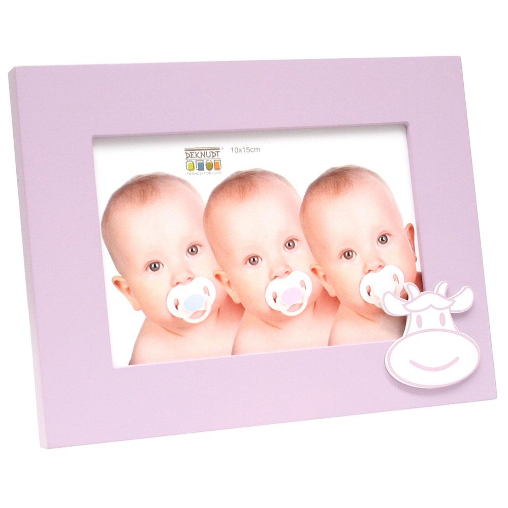 Baby-Fotorahmen mit Kuhmuster