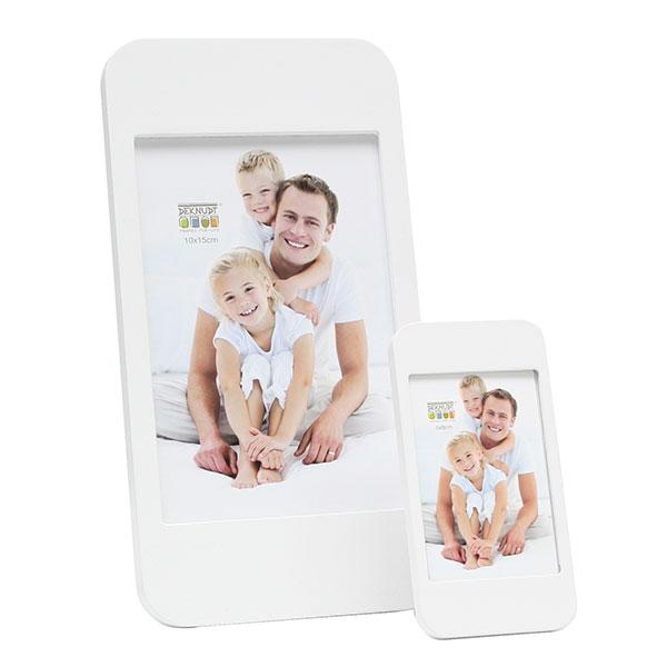 Holz-Bilderrahmen Handy Weiß