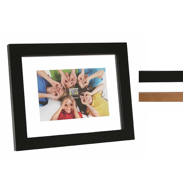 Holz-Bilderrahmen mit Doppelglas
