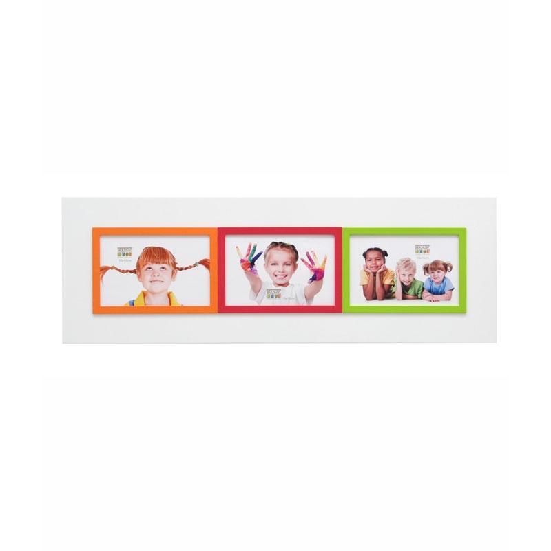 Galeriebilderrahmen Brel (3 Bilder) Weiß/grün/orange/rot