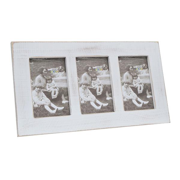 Galerie-Bilderrahmen Opitter für 3 Bilder Weiß