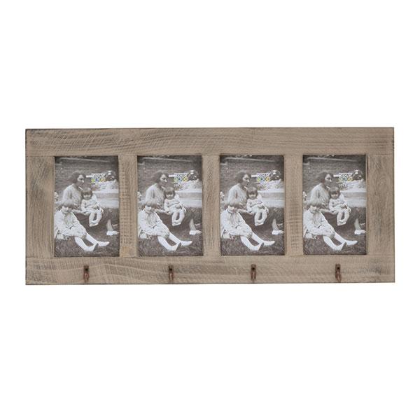 deknudt galerie bilderrahmen opitter f r 4 bilder mit haken 4x10x15 cm grau. Black Bedroom Furniture Sets. Home Design Ideas