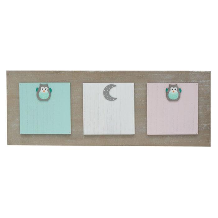 Holz-Memowand mit Magneten für 3 Bilder oder Karten