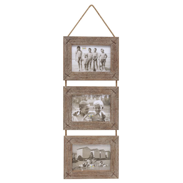 Fotohänger aus Treibholz für 3 Bilder