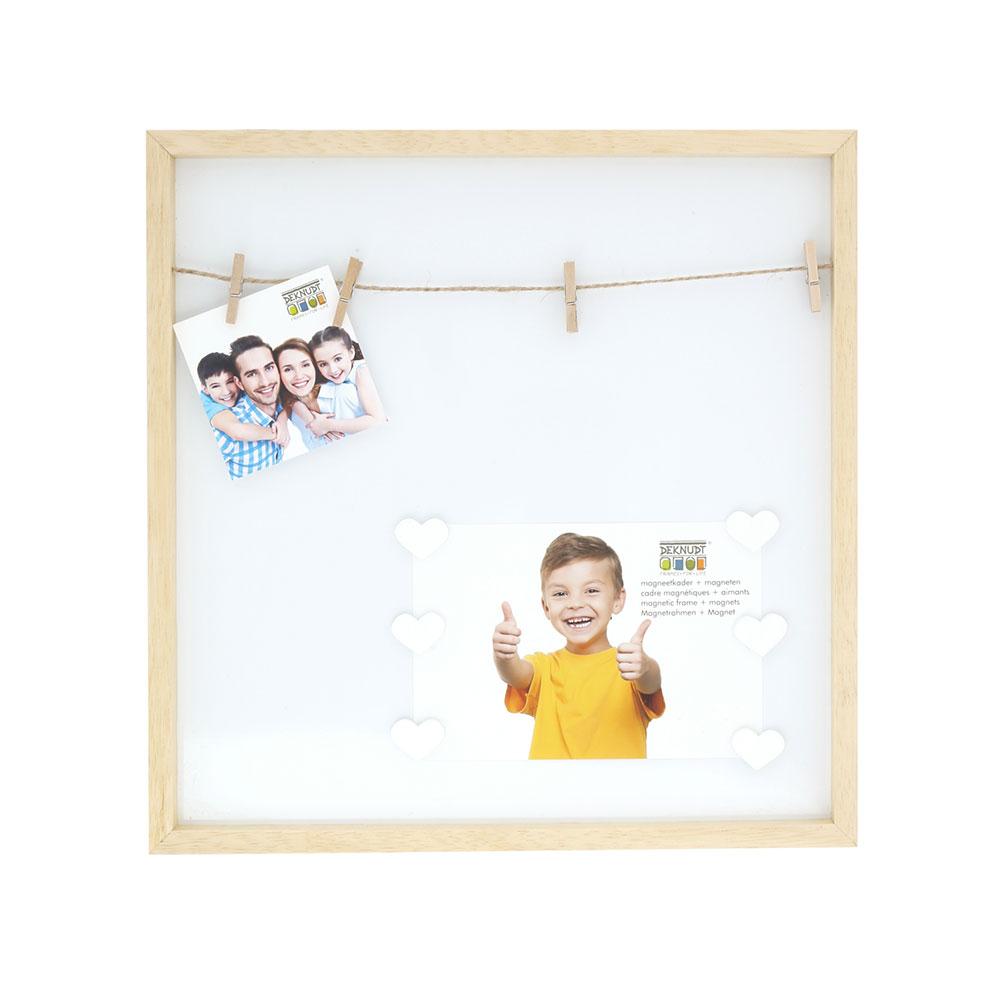 Magnetwand mit Holz-Bilderrahmen