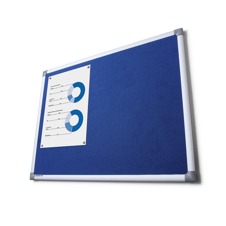 Pinnwand mit Filz Blau