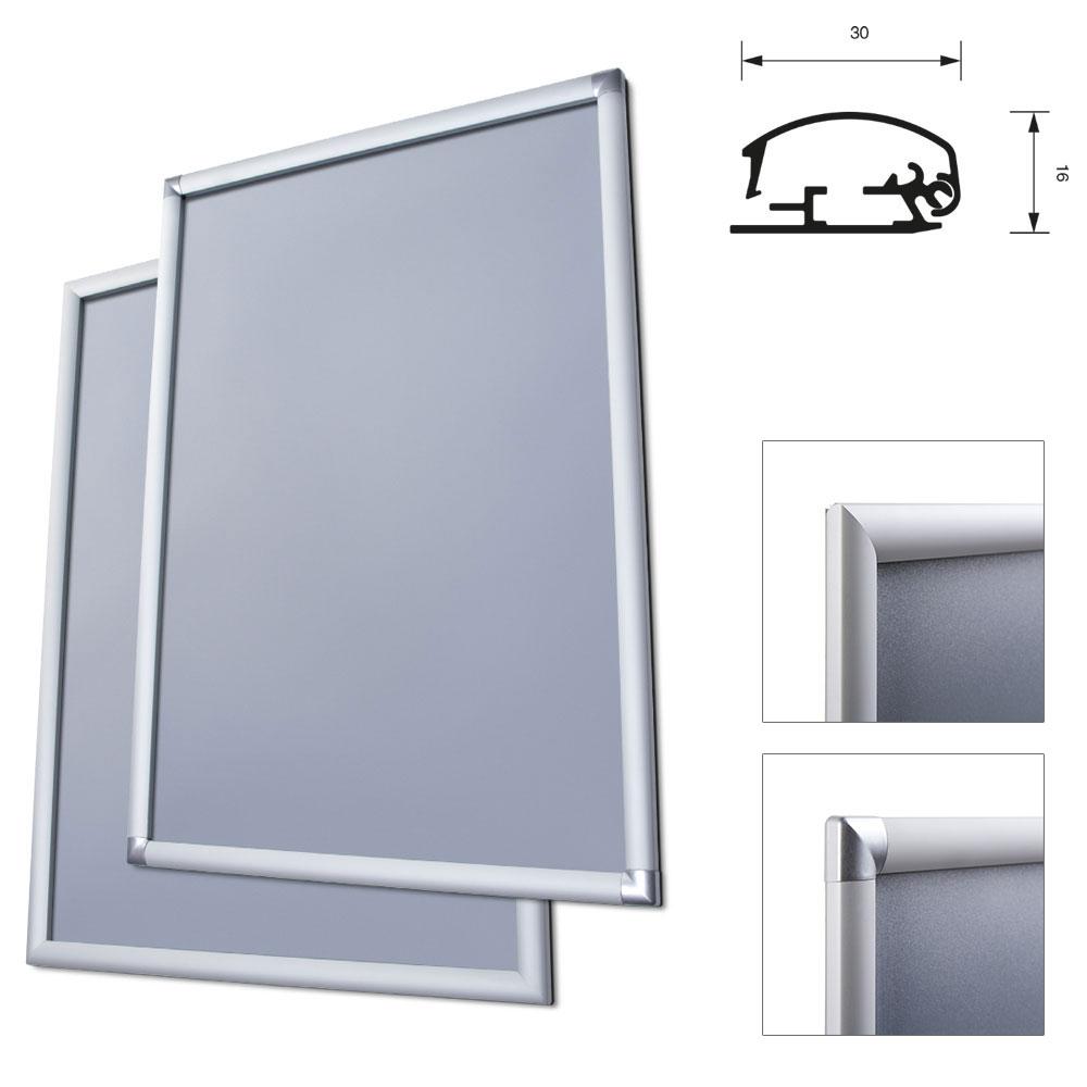 Display Klapprahmen, 30 mm 70x100 cm - Ecken auf Gehrung ...
