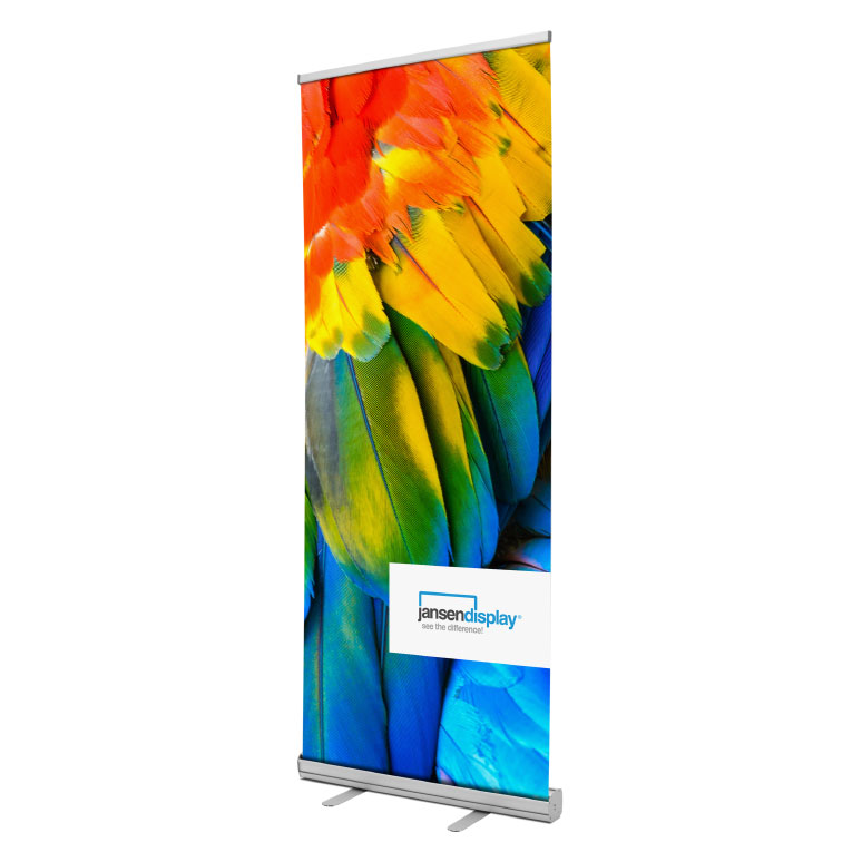 Roll Up Display Economy silber