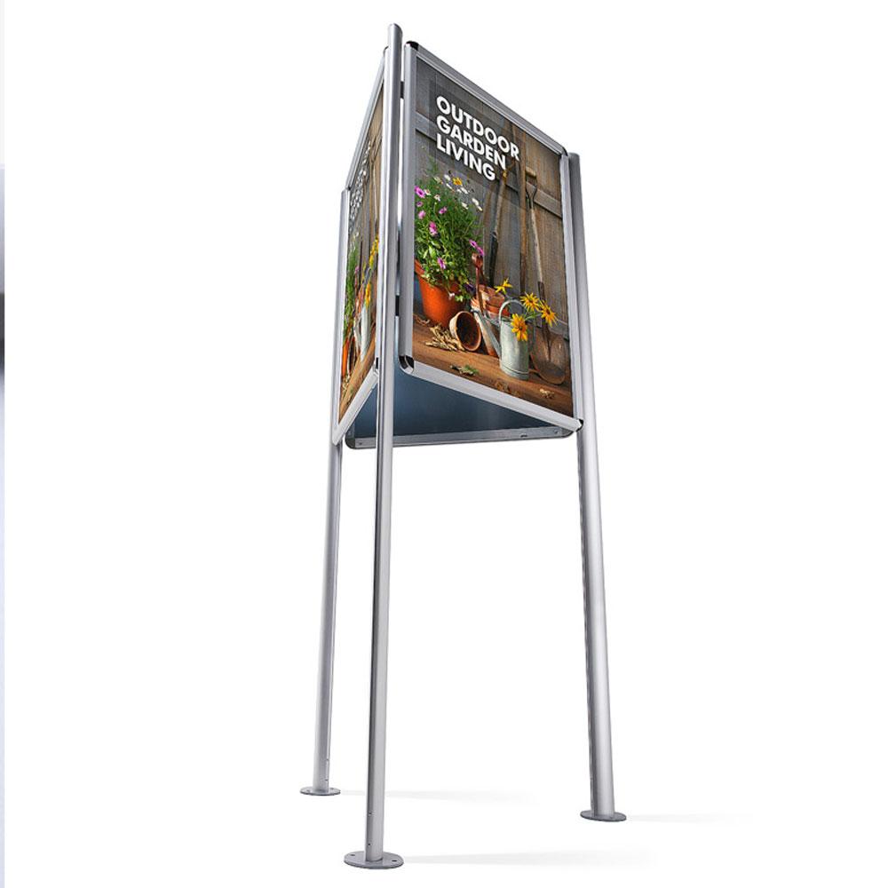 display dreiecksst nder standard 3x din a0 silber. Black Bedroom Furniture Sets. Home Design Ideas