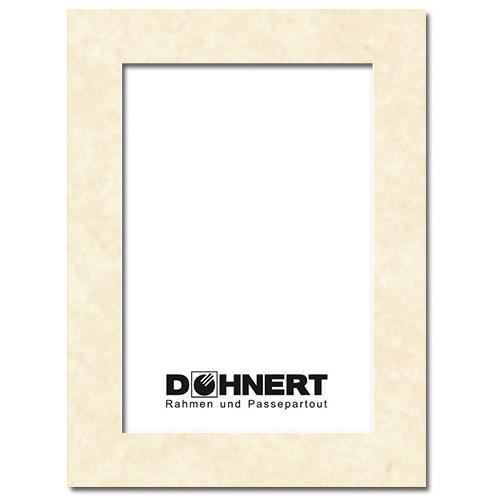 Passepartout mit eigenem Ausschnitt Pergament