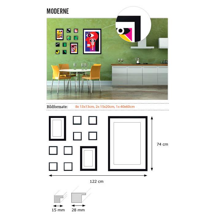 """Wandgalerie """"Moderne"""""""