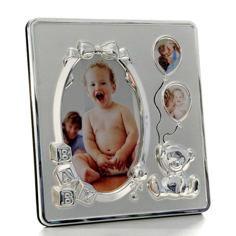 Euratio Baby-Fotorahmen mit Zierprofil 9x13 - Stahl versilbert ...