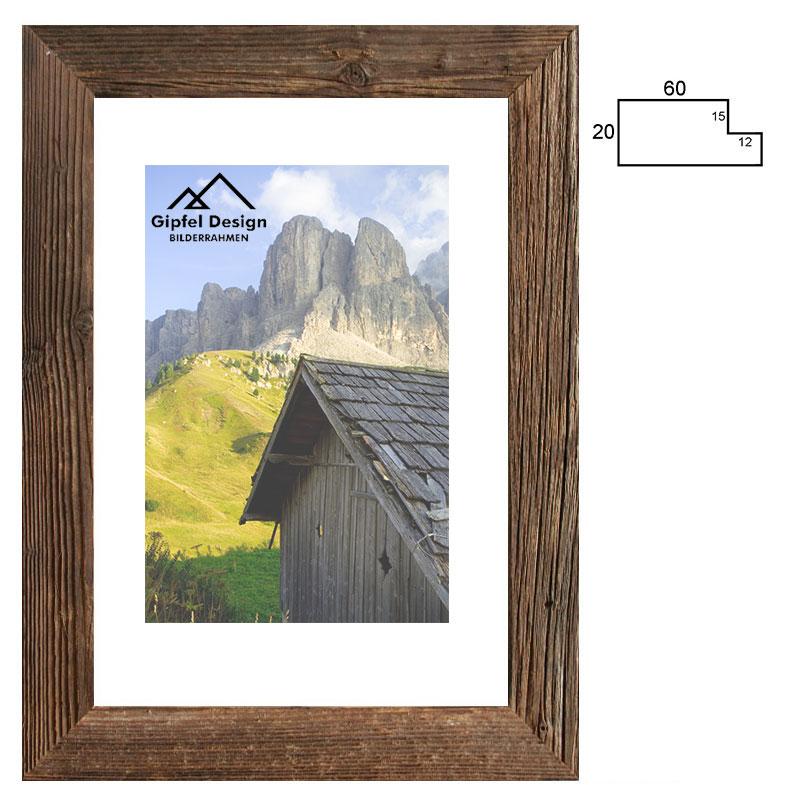 Gipfel-Design Altholz-Bilderrahmen Wimmertal 24x30 cm ...