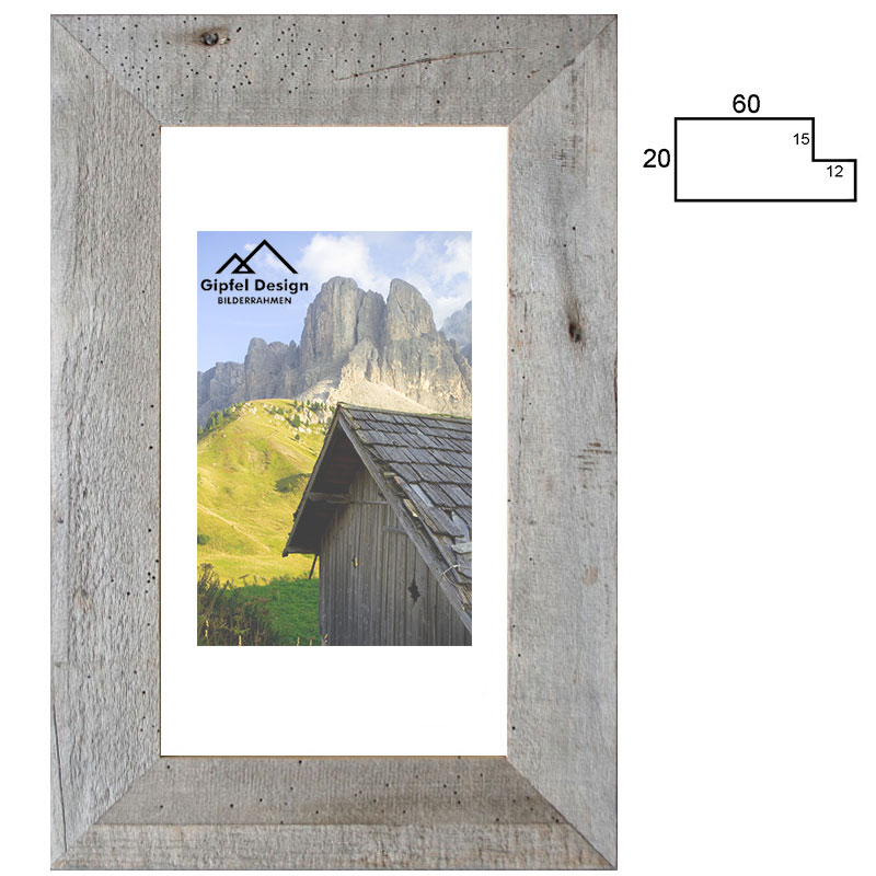 Gipfel-Design Altholz-Bilderrahmen Rißtal 18x24 cm ...