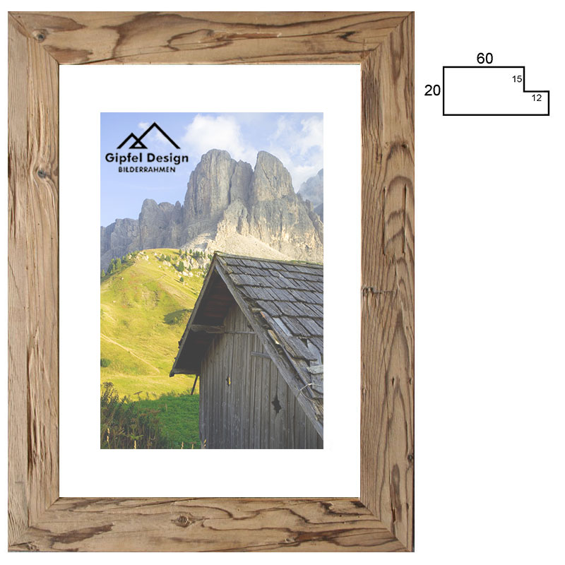 Gipfel-Design Altholz-Bilderrahmen Achental 10x15 cm - Fichte alt ...