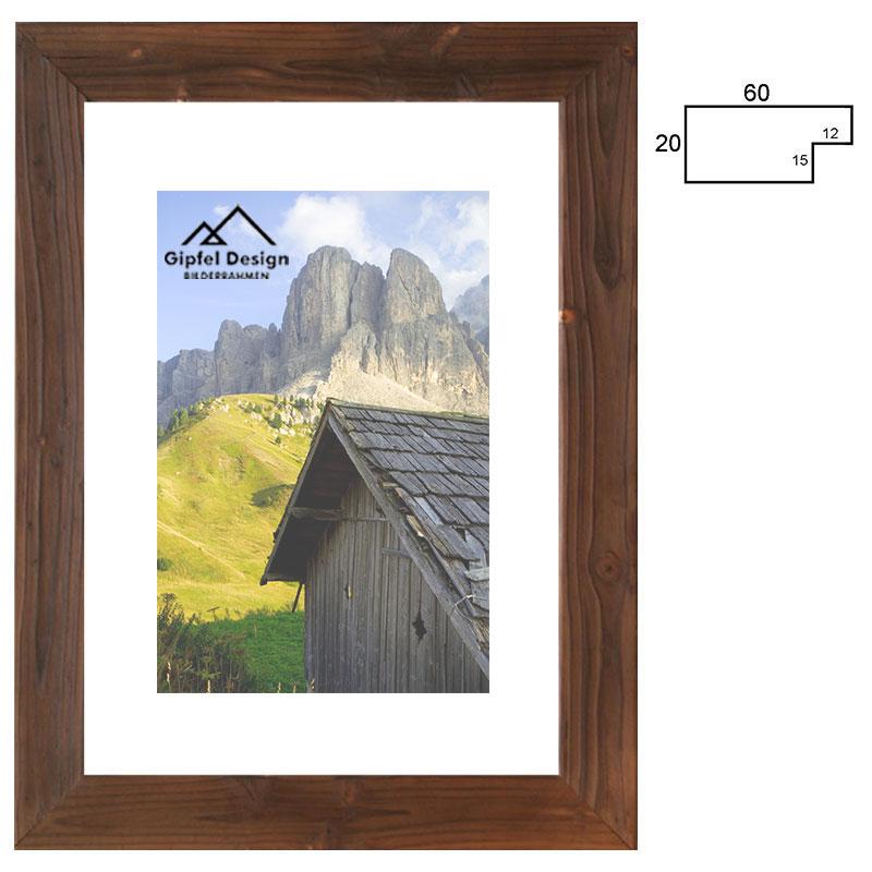 Gipfel-Design Holz-Bilderrahmen Achensee 60 18x24 cm - gebrannte ...