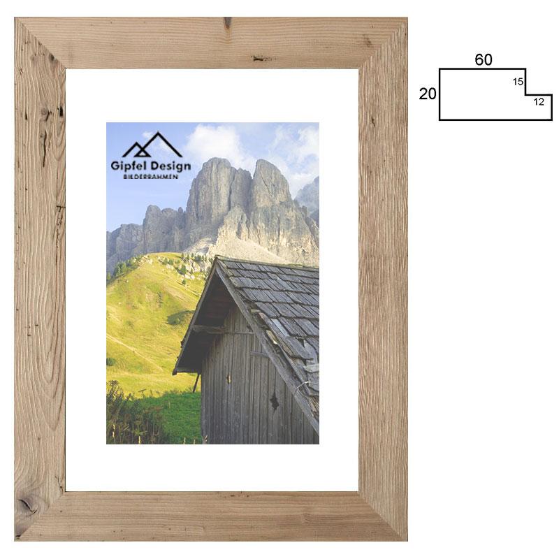 Gipfel-Design Altholz-Bilderrahmen Oberautal 30x40 cm - Altholz ...