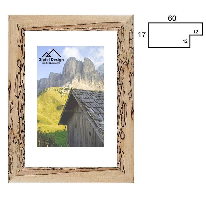 gipfel design holz bilderrahmen engalm 60x80 cm buche stockig. Black Bedroom Furniture Sets. Home Design Ideas