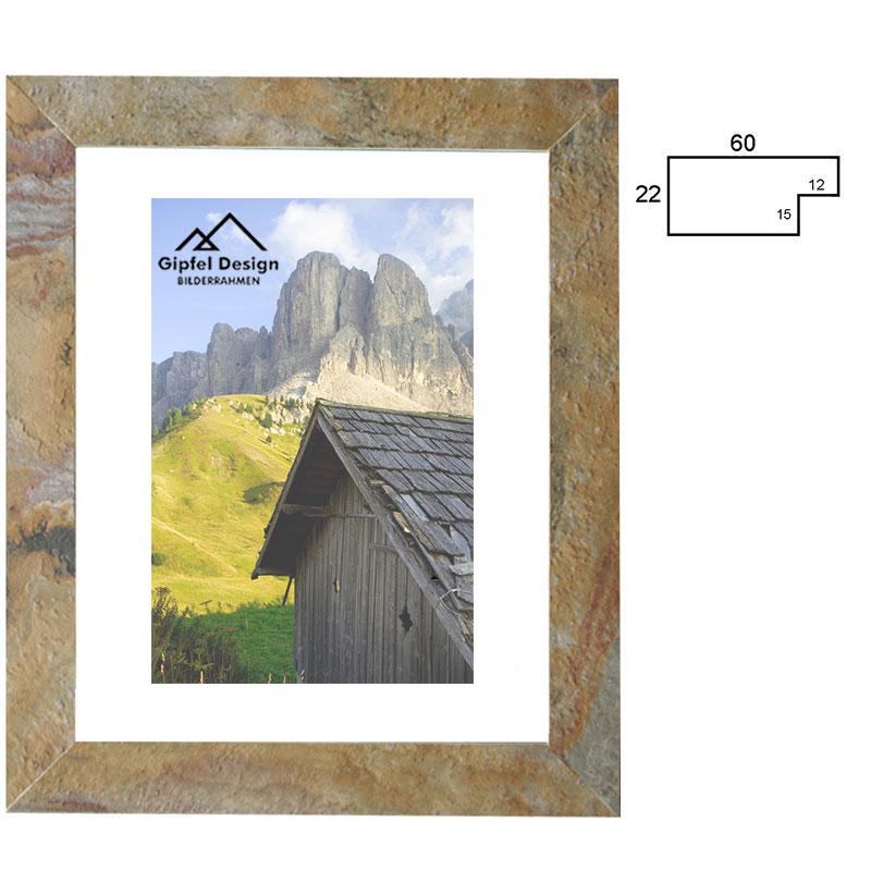 Gipfel-Design Beton-Bilderrahmen Angerkopf 18x24 cm - Schiefer ...