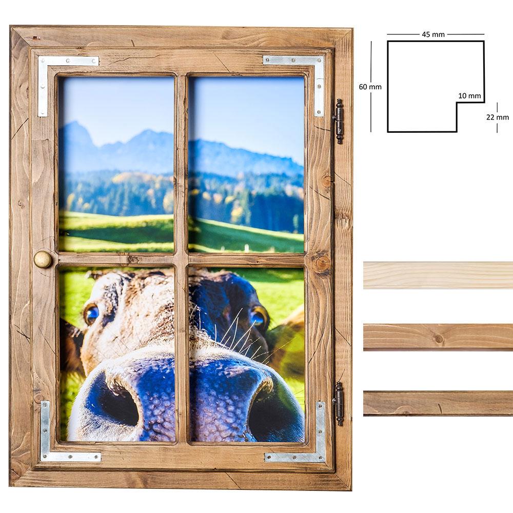 Dekofenster 50x70 Kuh-Motiv