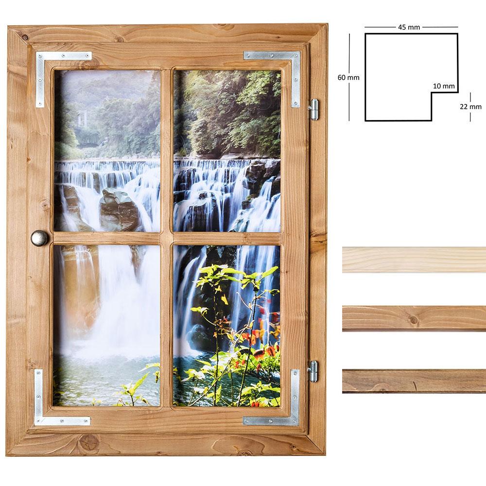 Dekofenster 50x70 Wasserfall-Motiv