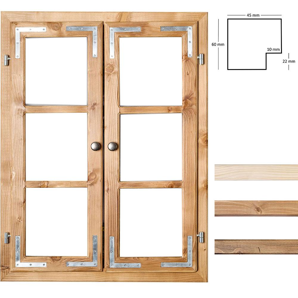 Gipfel design dekofenster 60x80 cm ohne roh for Fenster 60x80