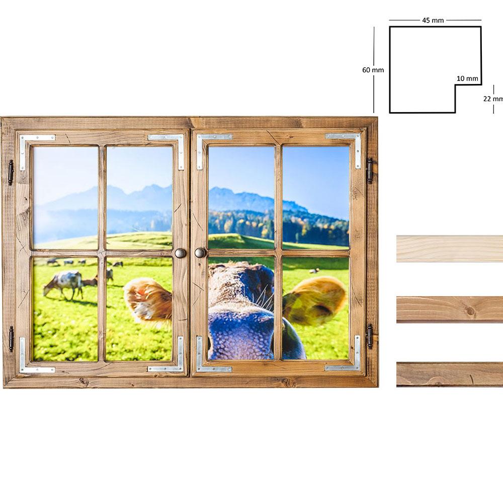 Dekofenster 70x100 Kuh-Motiv