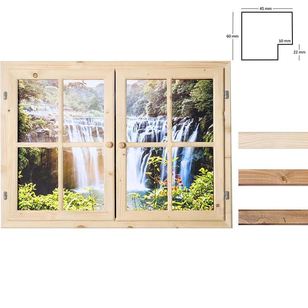 Dekofenster 70x100 Wasserfall-Motiv