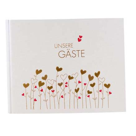 "Foto-Gästebuch ""Golden Hearts"""