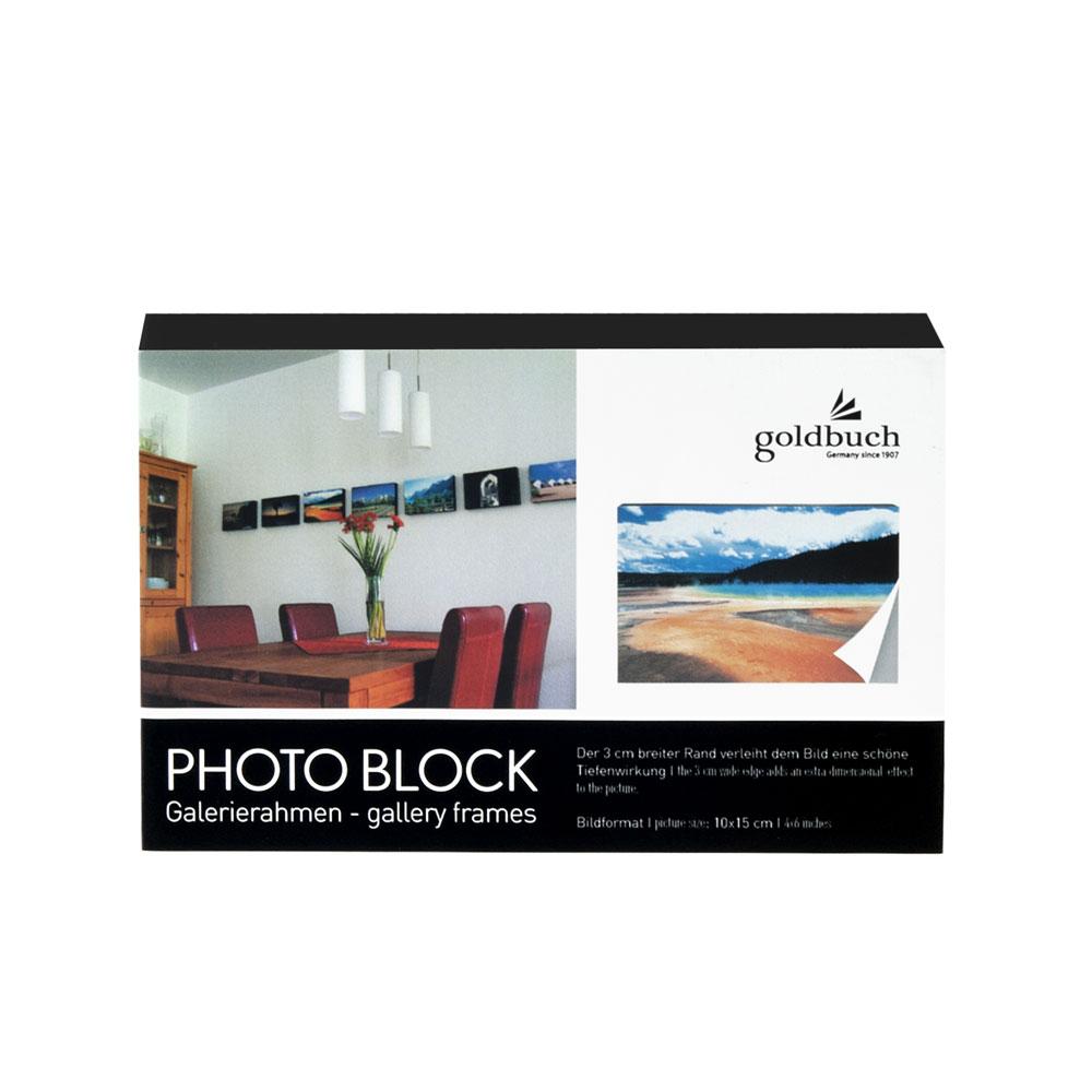 Foto-Block aus Holz mit Selbstklebefolie