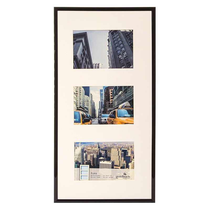 3er Kunststoff-Galerierahmen Puro schwarz