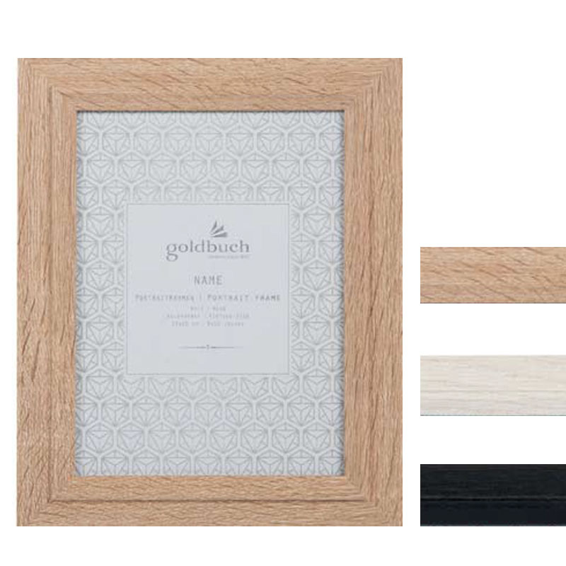 Goldbuch Holz-Bilderrahmen Alto mit Passepartout 10x15 cm - schwarz ...