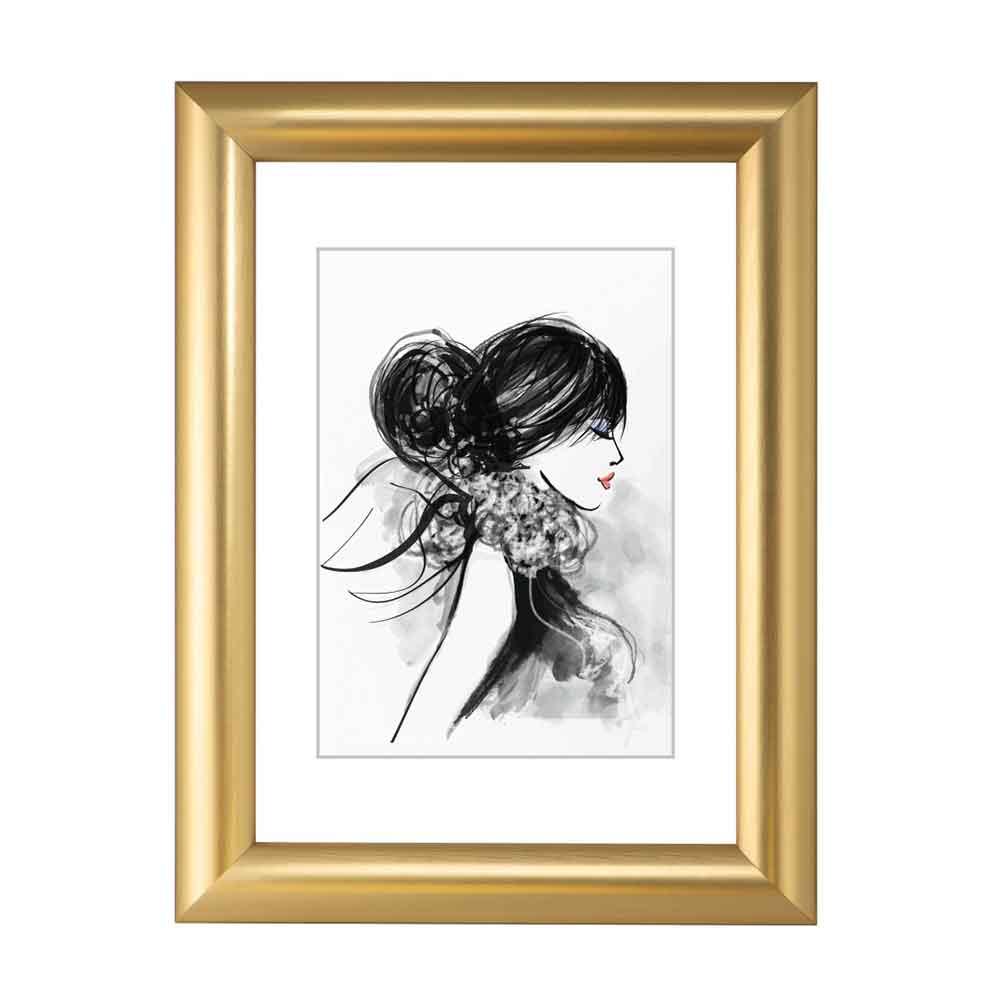 Kunststoff-Bilderrahmen Sofia Gold