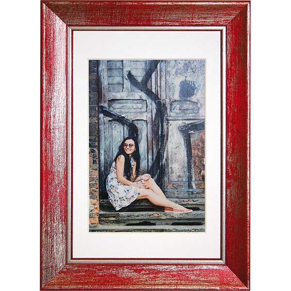 Holz-Bilderrahmen Aimee rot