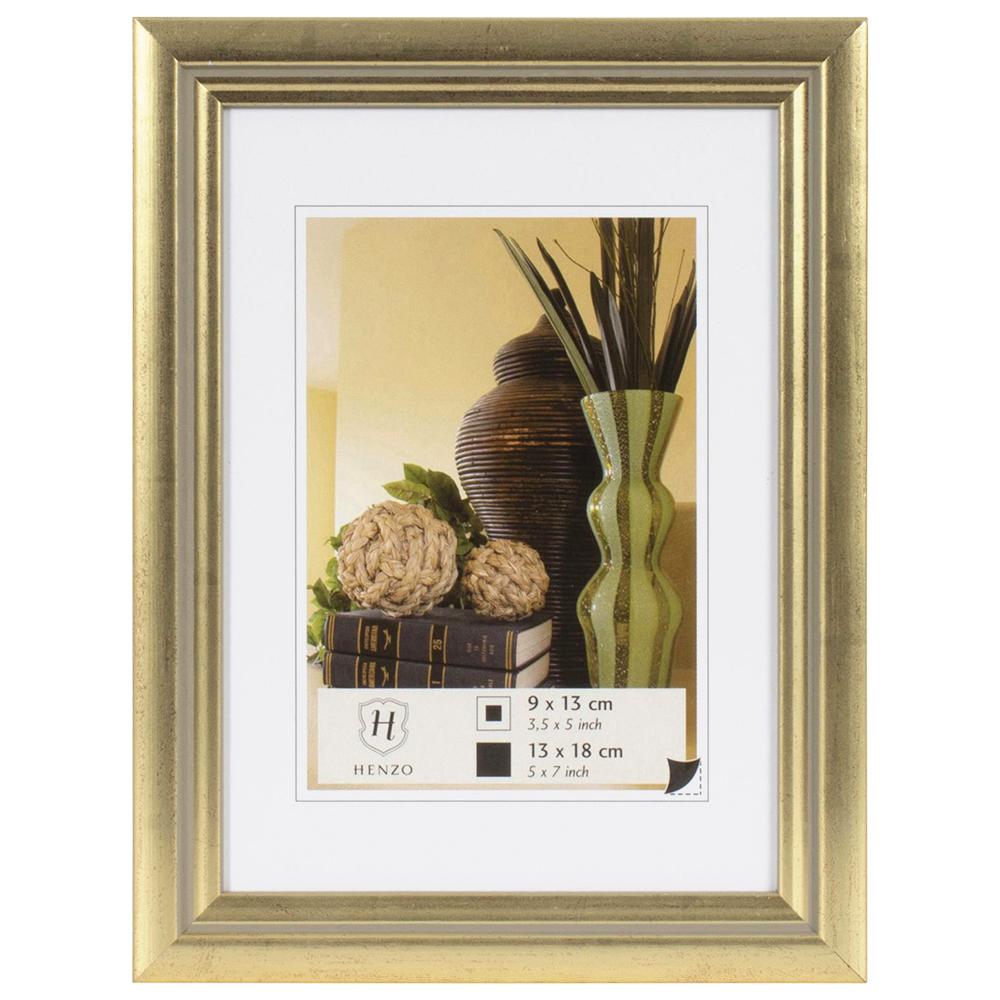 Ausgefallene bilderrahmen holz  Henzo Holz-Bilderrahmen Artos 20x30 cm (13x18 cm) - gold ...