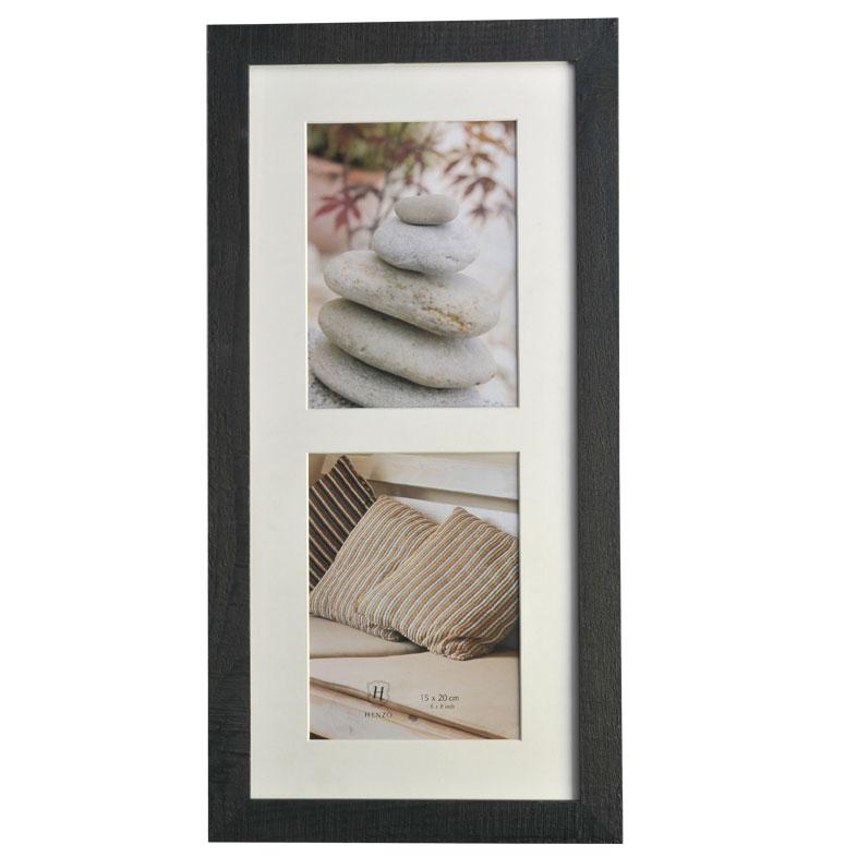 Galerie-Bilderrahmen Driftwood für 2 Bilder Dunkelgrau
