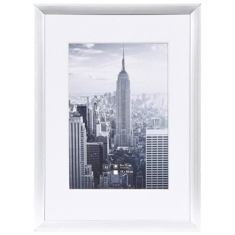 Alurahmen Manhattan mit Passepartout silber