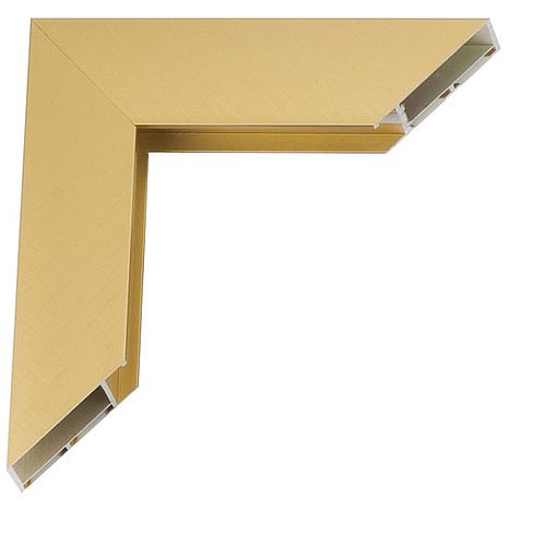 klueber gebira giga alu bilderrahmen 30x45 frosted gold. Black Bedroom Furniture Sets. Home Design Ideas