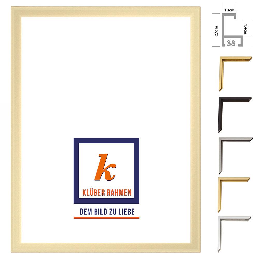 klueber gebira alu bilderrahmen javier 40x60 cm silber gl nzend r cken geb rstet. Black Bedroom Furniture Sets. Home Design Ideas