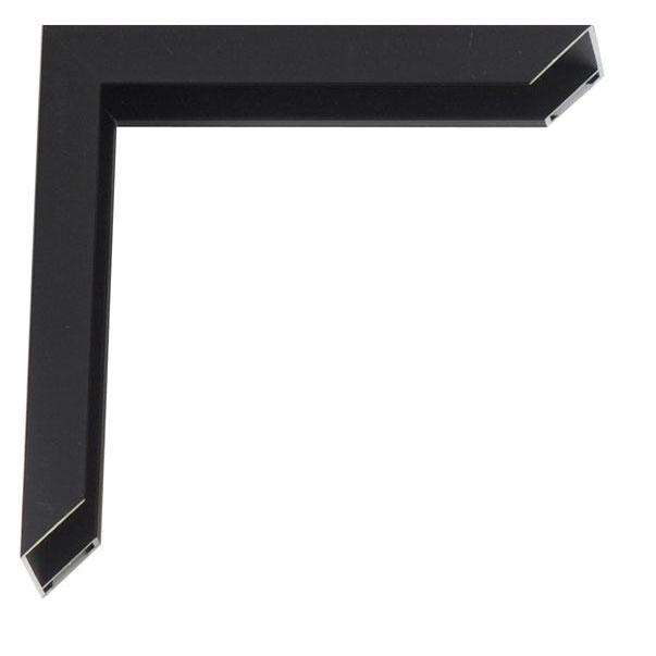 klueber gebira tera alu bilderrahmen 50x70 schwarz matt seitlich geb rstet. Black Bedroom Furniture Sets. Home Design Ideas
