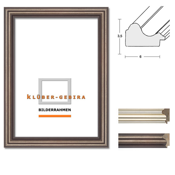 klueber gebira holzrahmen alicante nach ma dunkelgrau grausilber. Black Bedroom Furniture Sets. Home Design Ideas