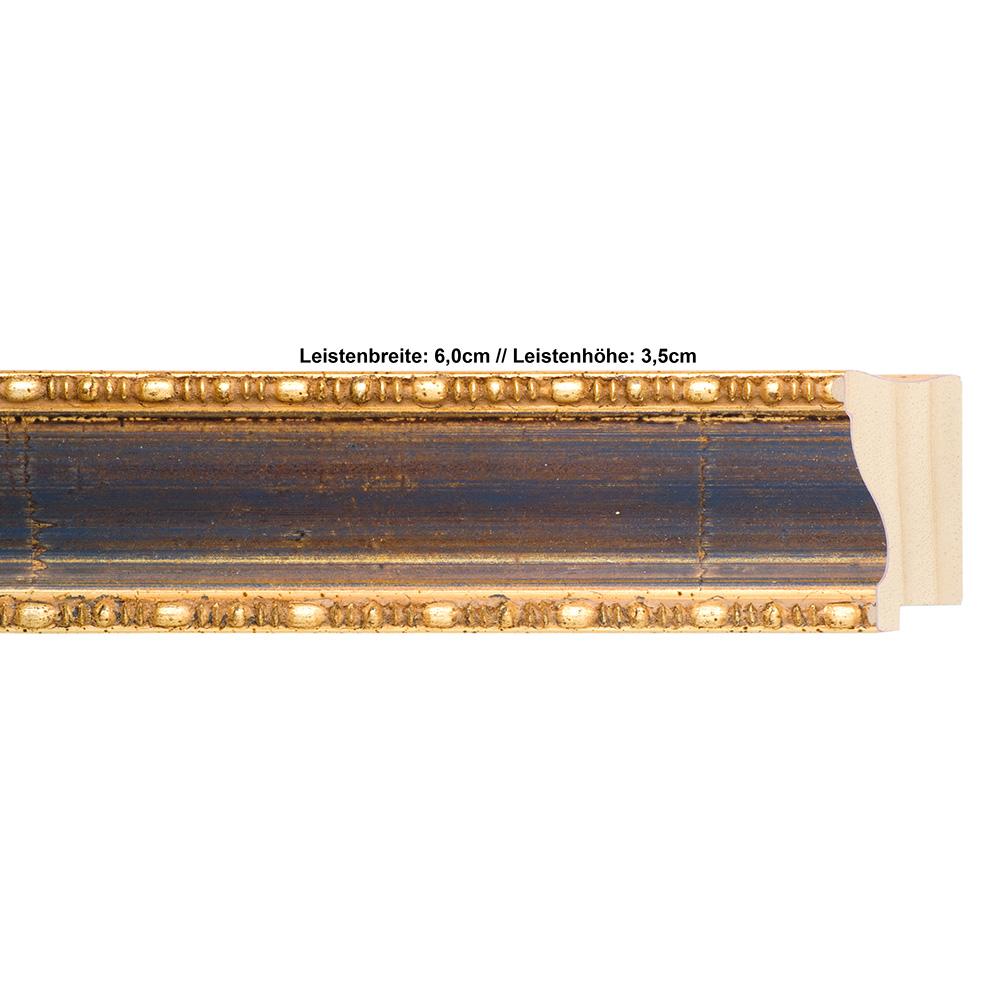 Klueber-Gebira Holzrahmen Pamplona 29,7x42 (A3) - blau-gold, 2 ...